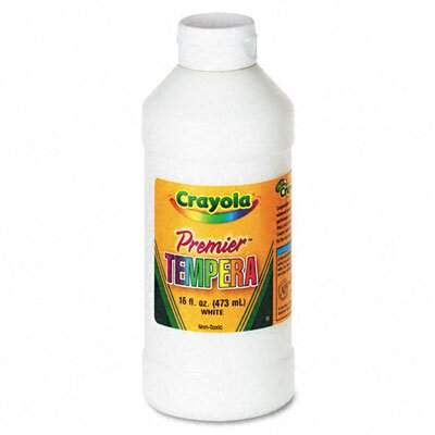 Crayola LLC Premier Tempera Paint, White, 16 Ounces