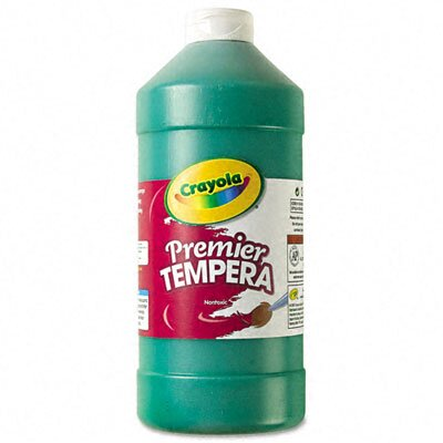 Crayola LLC Premier Tempera Paint, Green, 32 Ounces
