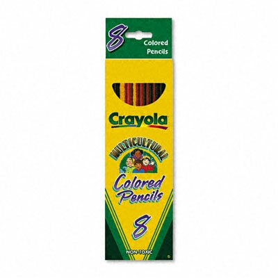 Crayola LLC 3.3 Mm Multicultural Colored Woodcase Pencils (8/Set )