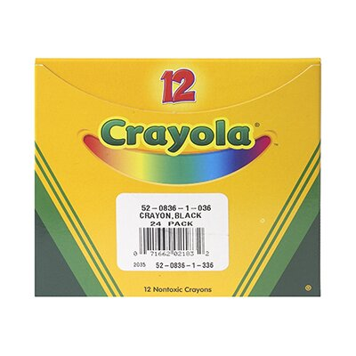 Crayola LLC Crayola Bulk Crayon Regular - Black