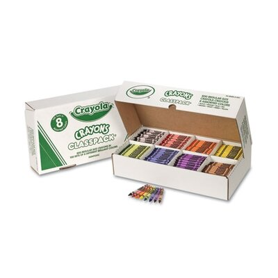 Crayola LLC Classpack Regular Crayons 8 Colors (800 per Box)