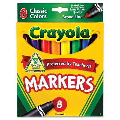 Crayola LLC Non-Washable Broad Point Markers (8/Set)