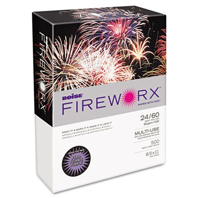 Boise® Fireworx Colored Paper, 24 lb, 8-1/2 X 11, 500 Sheets/Ream