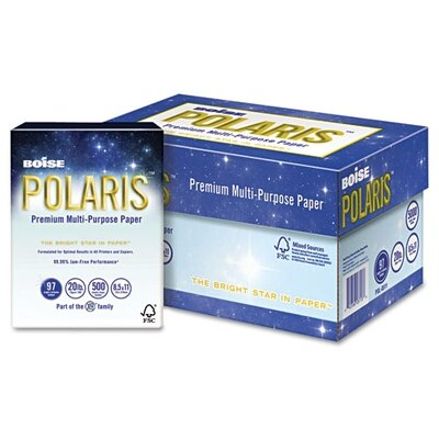 Boise® Polaris Copy Paper, 8 1/2 X 11, 5,000 Sheets/Carton, 20 Lb