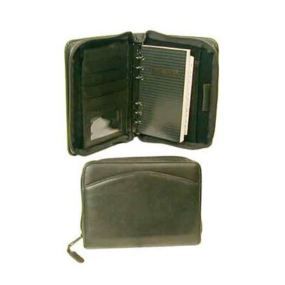 Bond Street, LTD. Hunter Zip Around Leather Organizer 6 Ring Binder