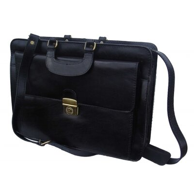 Bond Street, LTD. Leather Briefcase in Black