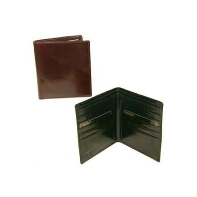 Bond Street, LTD. Hand Stained Italian Leather Executive Hipster Wallet