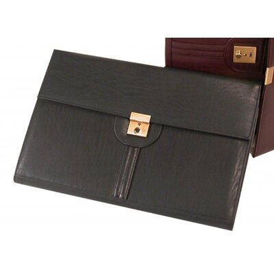 Bond Street, LTD. Leather-Look Legal Size Key Lockable Underarm Writing Case