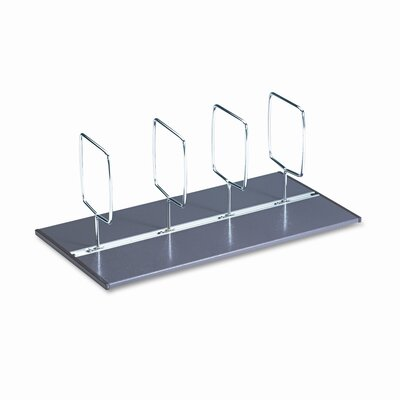"C-Line Products, Inc. C-Line® Adjustable Book Tray® Four-Section Adjustable 1.3"" Bookcase"