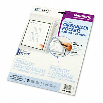 C-Line Products, Inc. Magnetic Cubicle Keepers Display Holders (2/Pack)