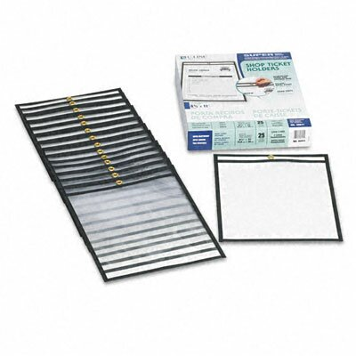 C-Line Products, Inc. Stitched Both Sides Clear Shop Ticket Holders, 8 1/2 X 11 (25/Box)