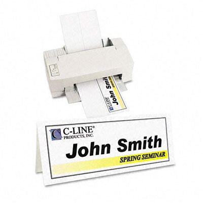 C-Line Products, Inc. Printer-Ready Name Tent Cards (50 Sheets/Box)