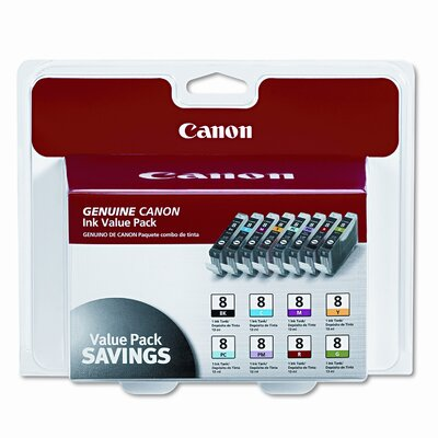 Canon 0620B015 (Cli-8) Ink Tank (8/Pack)