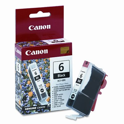 Canon Bci6Bk (Bci-6) Ink Tank (370 Page-Yield)