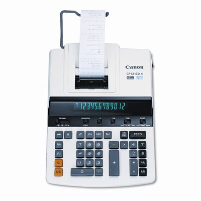 Canon Cp1213Dii 2-Color Heavy-Duty Printing Calculator with 12-Digit Fluorescent
