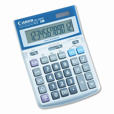 Canon 12-Digit LCD Minidesk Calculator