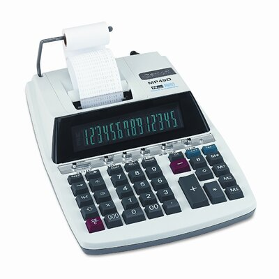 Canon MP49D Desktop Calculator, 14-Digit Fluorescent, Two-Color Printing