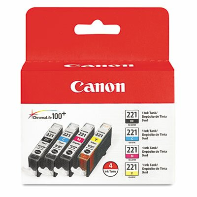 Canon Cli-221 Ink (4/Pack)