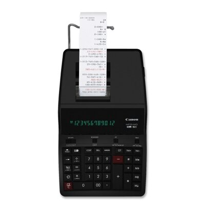 "Canon 12-Digit Calculator, w/Tax Function, 8-3/4""x12-5/8""x2-7/8"", Black"
