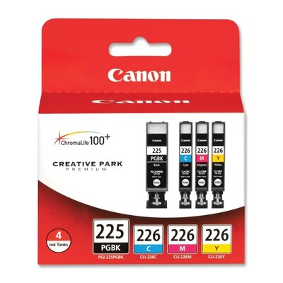 Canon Ink Cartridges, Black, Cyan, Magenta, Yellow