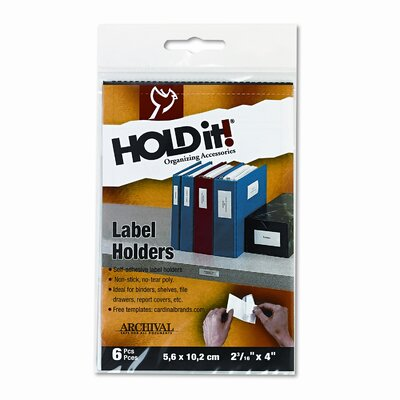 Cardinal Brands, Inc Self-Adhesive Label Holders for Binders, 2 3/16 x 4, 8 per Pack