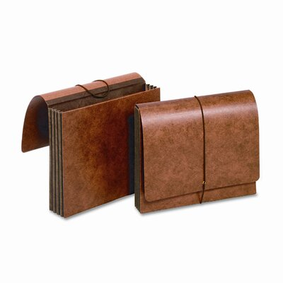 "Cardinal Brands, Inc Globe-Weis 3.5"" Expansion Accordion Wallets, Straight, Redrope, Letter"