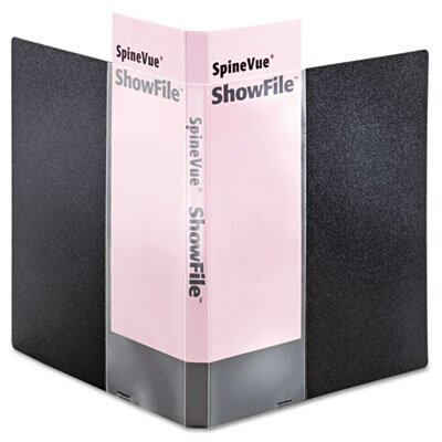 Cardinal Brands, Inc Spinevue Showfile Display Book with Wrap Pocket, 24 Letter-Size Sleeves