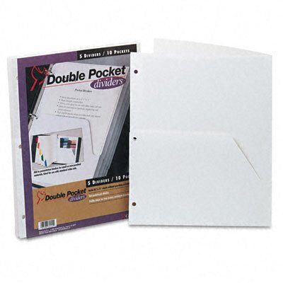 Cardinal Brands, Inc Untabbed Ring Binder Double Pocket Dividers (5/Pack)