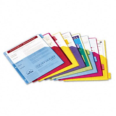 Cardinal Brands, Inc Poly 1-Pocket Index Dividers, 8-Tabs/Set, 4 Sets/Pack