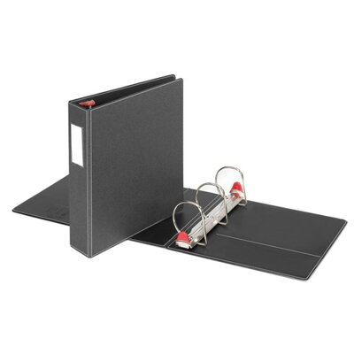 "Cardinal Brands, Inc Locking D-Ring Binder W/Labelholder, 3"" Capacity, Black"