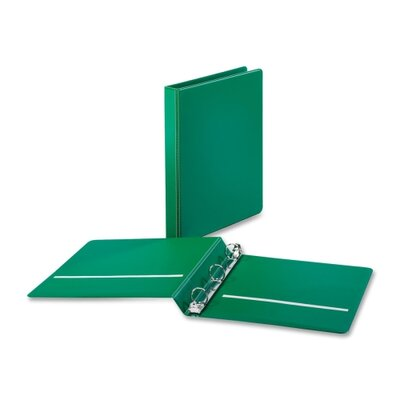 "Cardinal Brands, Inc Non-locking Round-ring Binders, w/ 2 Pockets, 1"" Capacity, Green"
