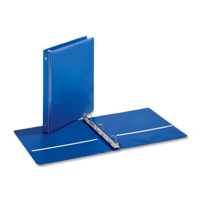"Cardinal Brands, Inc EconomyValue Round-ring Binders, w/ 2 Pockets, 1"" Cap., Medium Blue"