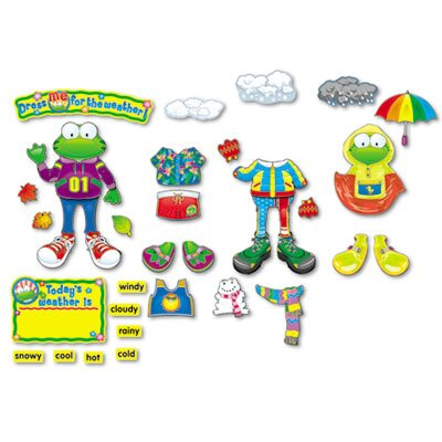 Carson-Dellosa Publishing Weather Frog Bulletin Board Set