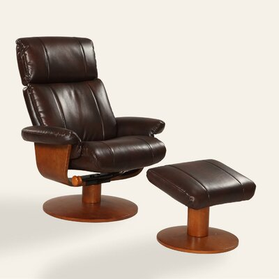 Oslo Air Massage Swivel Recliner and Ottoman