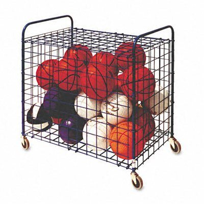 Champion Sports Lockable Ball Storage Cart, 24-Ball Capacity