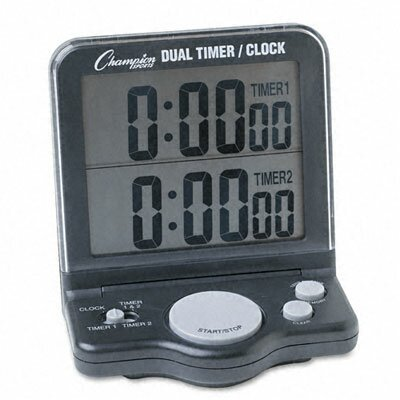 Champion Sports Dual Timer and Clock with Jumbo Display, Lcd