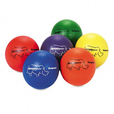 Champion Sports Dodge Ball Set, Rhino Skin (Set of 6)