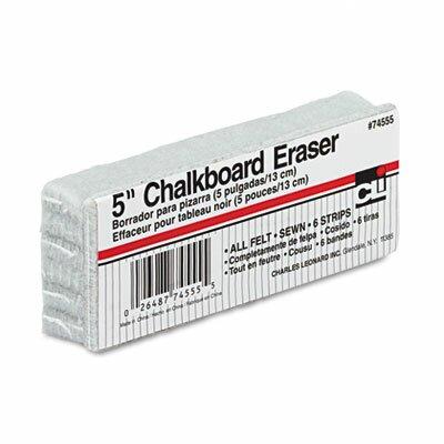 Charles Leonard Co. 5-Inch Chalkboard Eraser, Wool Felt, 5w x 2d x 1h