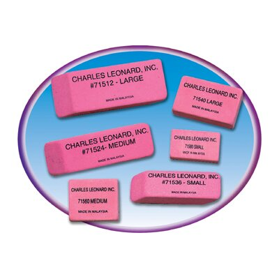 Charles Leonard Co. 12/bx Synthetic Pink Wedge Erasers