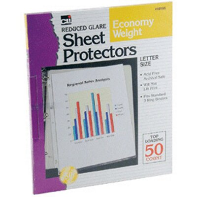 Charles Leonard Co. Top Loading Sheet Protectors Clear