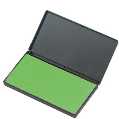 "Charles Leonard Co. Foam Ink Pad, 2-3/4"" x 4-1/4"", Nontoxic, Reinkable, Green"
