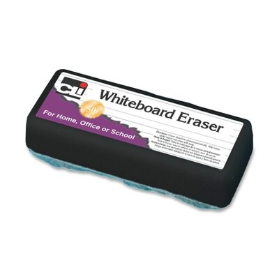"Charles Leonard Co. Whiteboard Eraser, Felt, 5""x2""x1"", White"