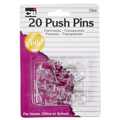 Charles Leonard Co. Push Pin 20 Count