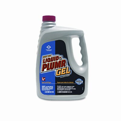 Clorox Company Liquid Plumr Heavy-Duty Clog Remover, 80oz Bottle, 6/carton