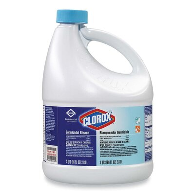 Clorox Company Germicidal Bleach, 96 Oz. Bottle, 6/Carton
