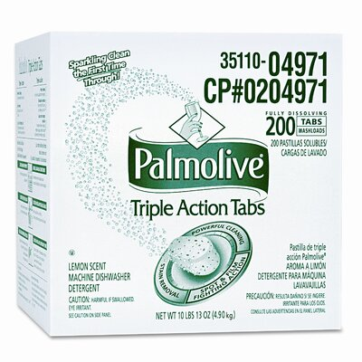 Colgate Palmolive Triple Action Dishwasher Pouches, 1.5 Oz, Lemon Scent, 100/Carton