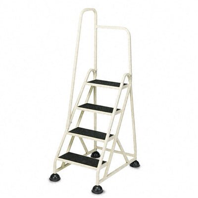 Cramer Industries, Inc. Four-Step Stop-Step Folding Aluminum Handrail Ladder