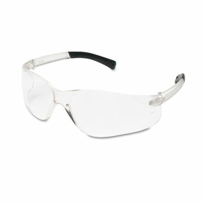 Crews® BearKat Safety Glasses, Wraparound, Black Frame/Clear Lens
