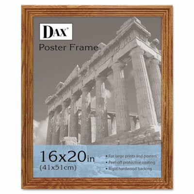 DAX® Plastic Poster Frame, Traditional with clear plastic window, 16 x 20, Medium Oak