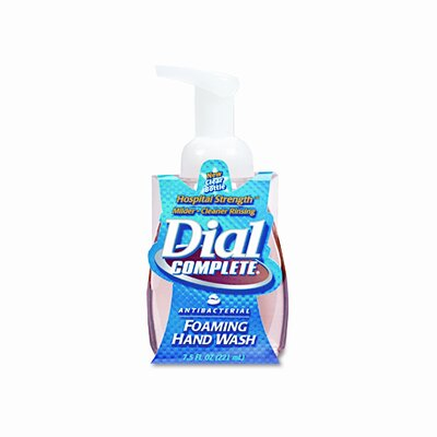 Dial® Complete® Complete Foaming Hand Wash, Liquid, Fresh Scent, 7.5 Oz Pump Bottle, 8/Carton